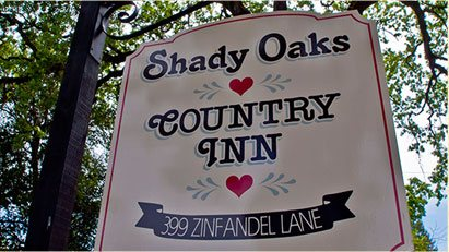 Shady Oaks Country Inn Outdoor Sign