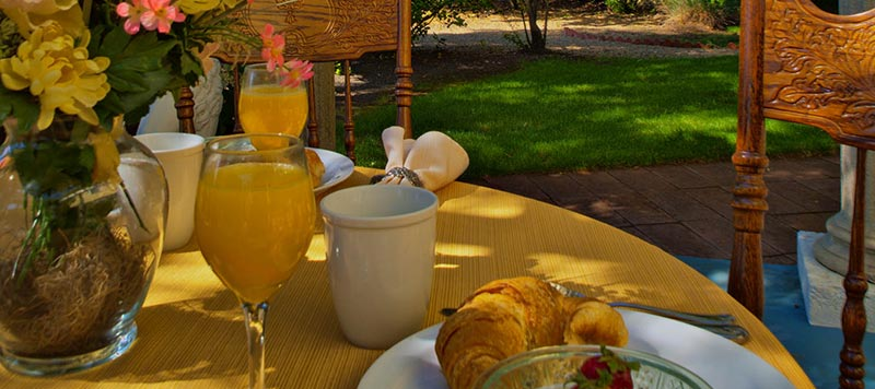 Outdoor Breakfast at Shady Oaks Country Inn in Napa Valley